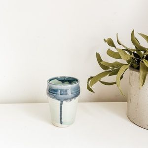 Handmade aqua vase